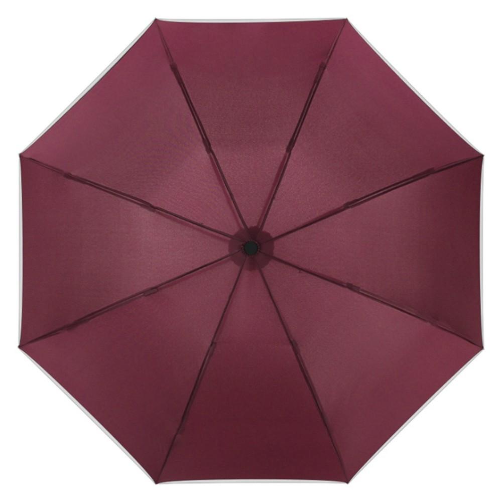 【FJ】全自動反向折疊加大伸縮雨傘(附收納帶)紅色