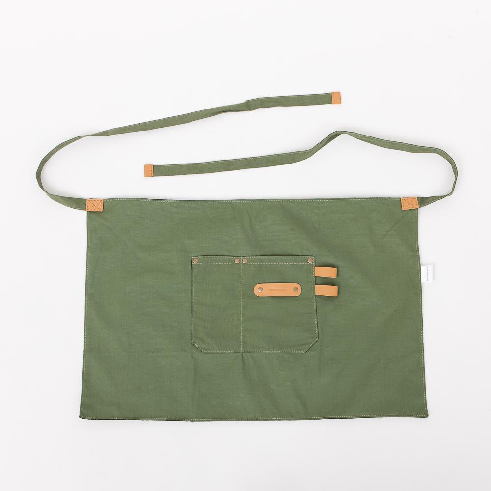 職人半身工作圍裙-軍綠-生活工場