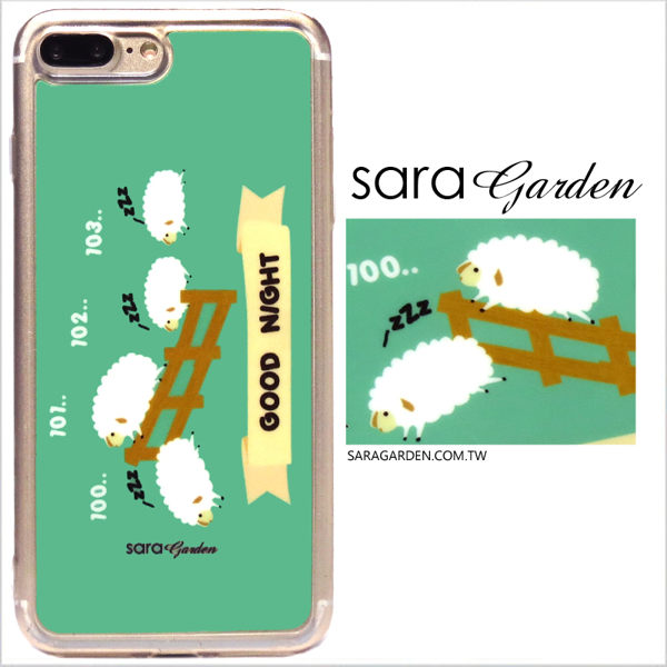 【Sara Garden】客製化 軟殼 蘋果 iPhone 6plus 6SPlus i6+ i6s+ 手機殼 保護套 全包邊 掛繩孔 晚安數綿羊