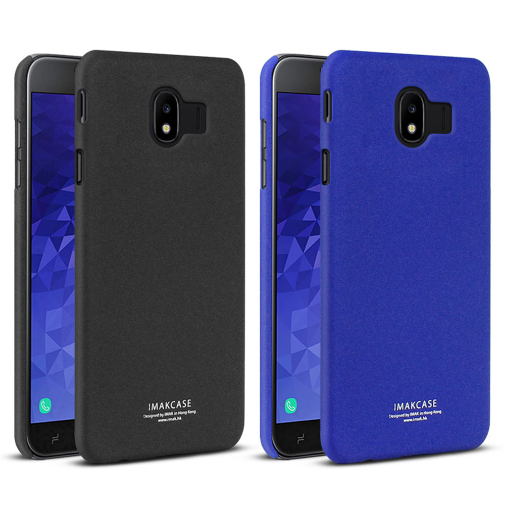 Imak SAMSUNG Galaxy J4 創意支架牛仔殼(磨砂藍)