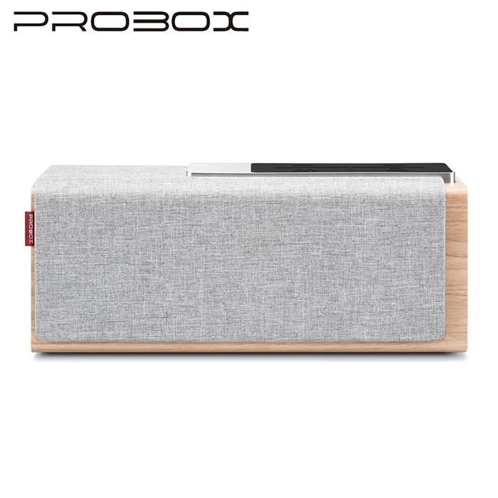 PROBOX Teana Sound 木質無線藍牙喇叭 | 15W- 淺灰色