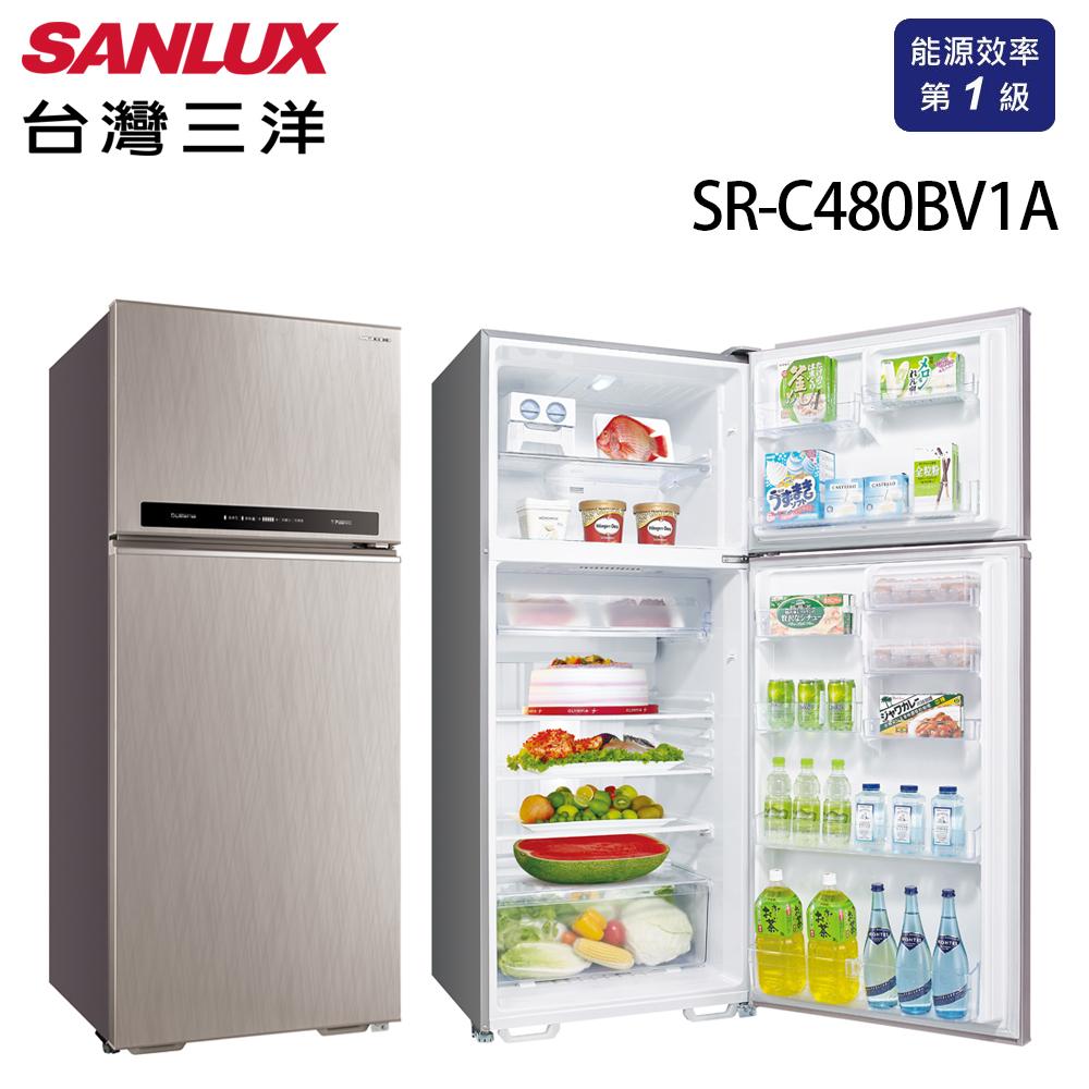 台灣三洋 SANLUX 一級能效 480L雙門直流變頻冰箱 SR-C480BV1A