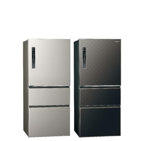 Panasonic國際牌610公升三門變頻鋼板冰箱絲紋灰NR-C610HV-L