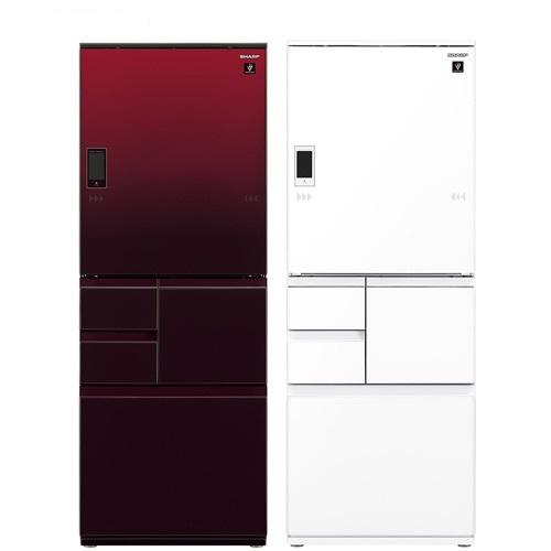 ★一級能效★【SHARP 夏普】551L日本原裝變頻五門觸控左右開冰箱 SJ-WX55ET-W