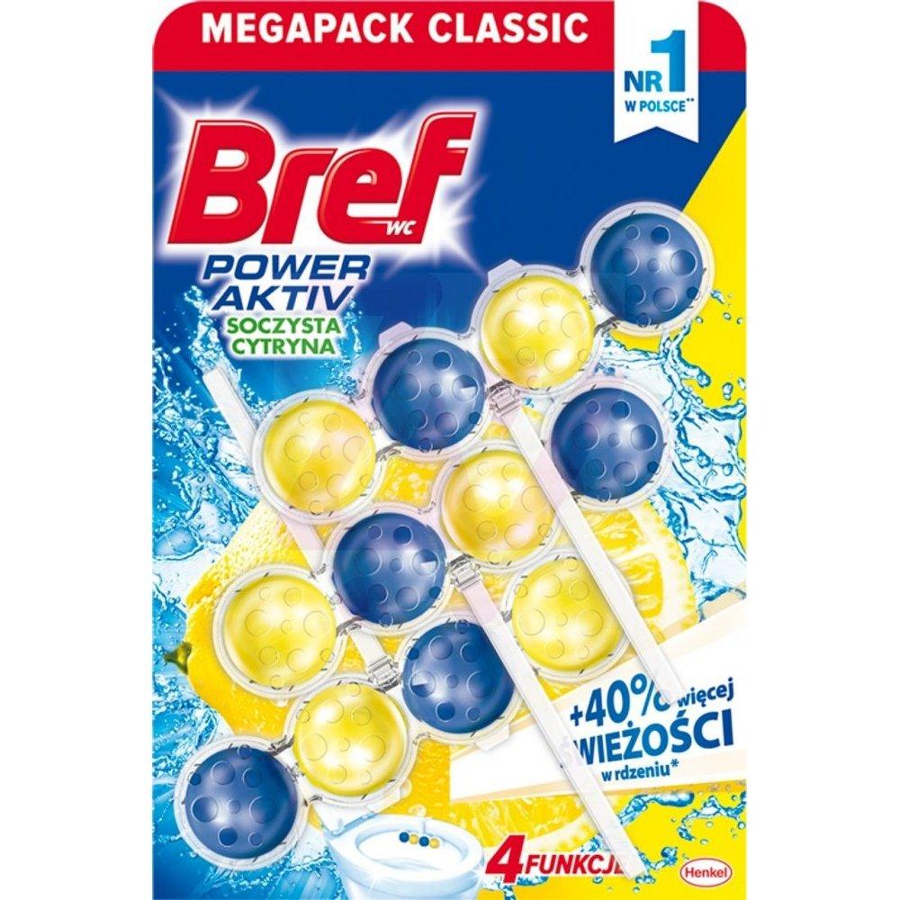 Bref馬桶消臭清潔球-檸檬香氛(50g*3入)X3組
