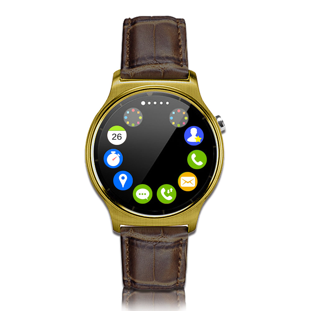 【長江】UTA S3圓款心率智能通話手錶(全屏觸控)金色