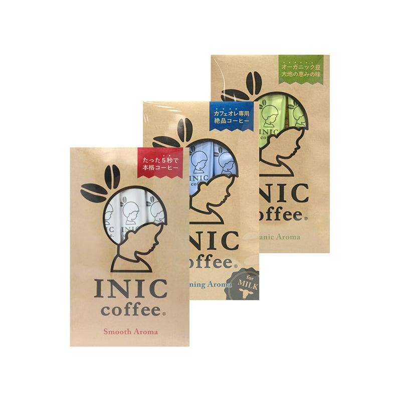 【日本INIC coffee】經典原味咖啡 + 咖啡歐蕾 + 自然農法咖啡〈各3入*1組〉