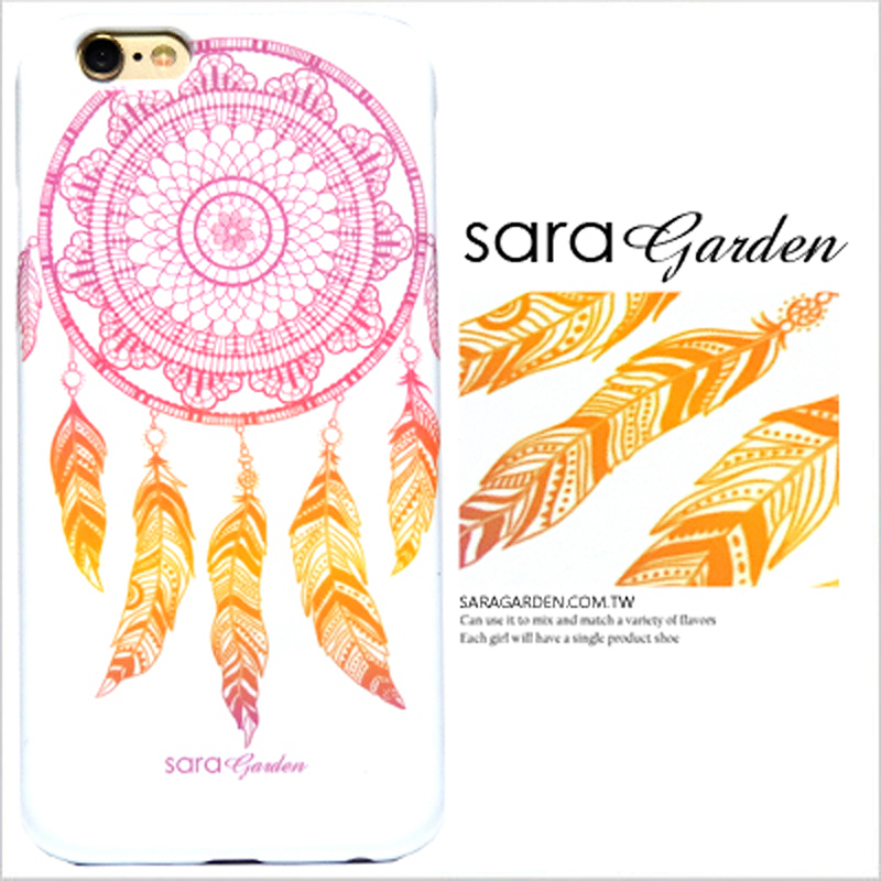 【Sara Garden】客製化 手機殼 蘋果 iPhone6 iphone6S i6 i6s 漸層 捕夢網 流蘇 羽毛 硬殼 限定