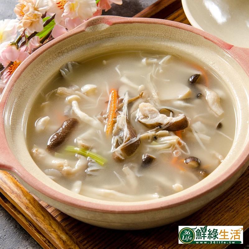 【鮮綠生活】大份量香濃日式豚骨百菇湯1200g 共10包