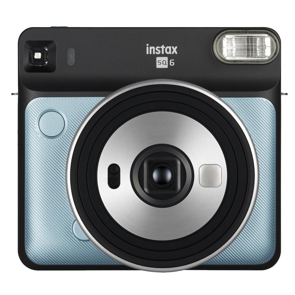 FUJIFILM instax SQUARE SQ6 方形拍立得相機(公司貨)_水色藍 送方形底片1盒