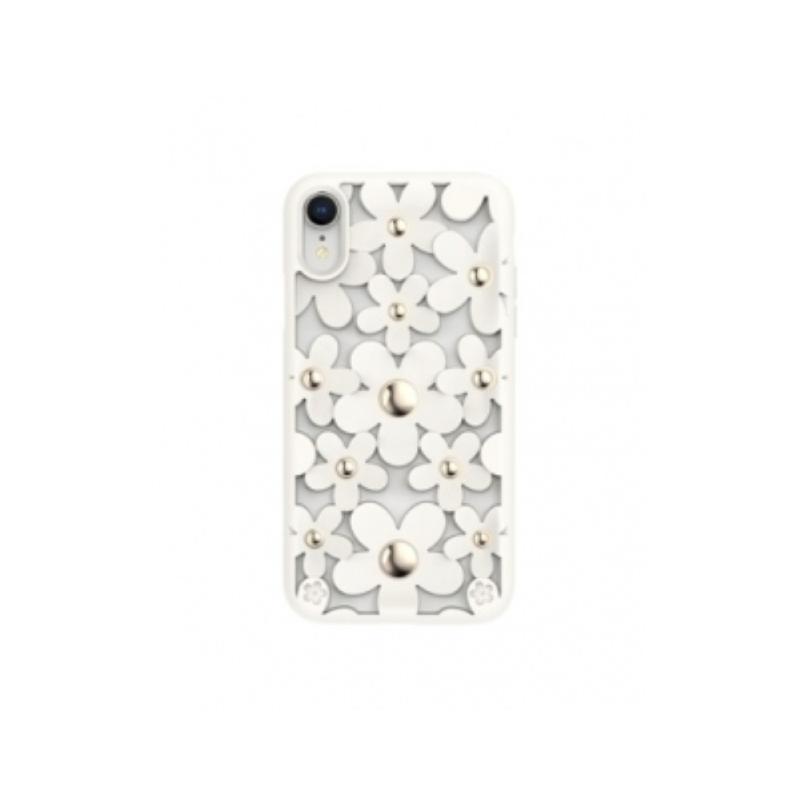 SwitchEasy iPhone XR 3D花朵吸震防摔保護套 米白