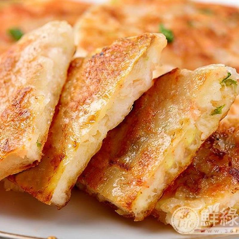 【鮮綠生活】宮廷月圓蝦餅(三片/包) 共4包