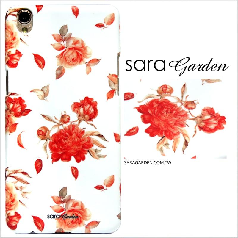【Sara Garden】客製化 手機殼 OPPO R9Plus 玫瑰碎花 曲線 手工 保護殼 硬殼