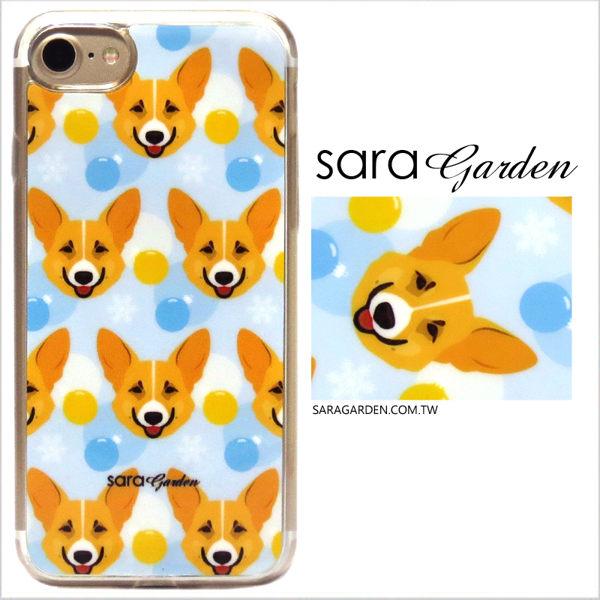 【Sara Garden】客製化 軟殼 蘋果 iPhone7 iphone8 i7 i8 4.7吋 手機殼 保護套 全包邊 掛繩孔 手繪柯基狗狗