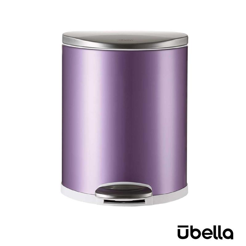 優百納8L隨享系列靜音垃圾桶紫色AJ-8008PU