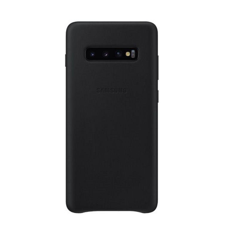 SAMSUNG Galaxy S10+ 皮革背蓋 黑
