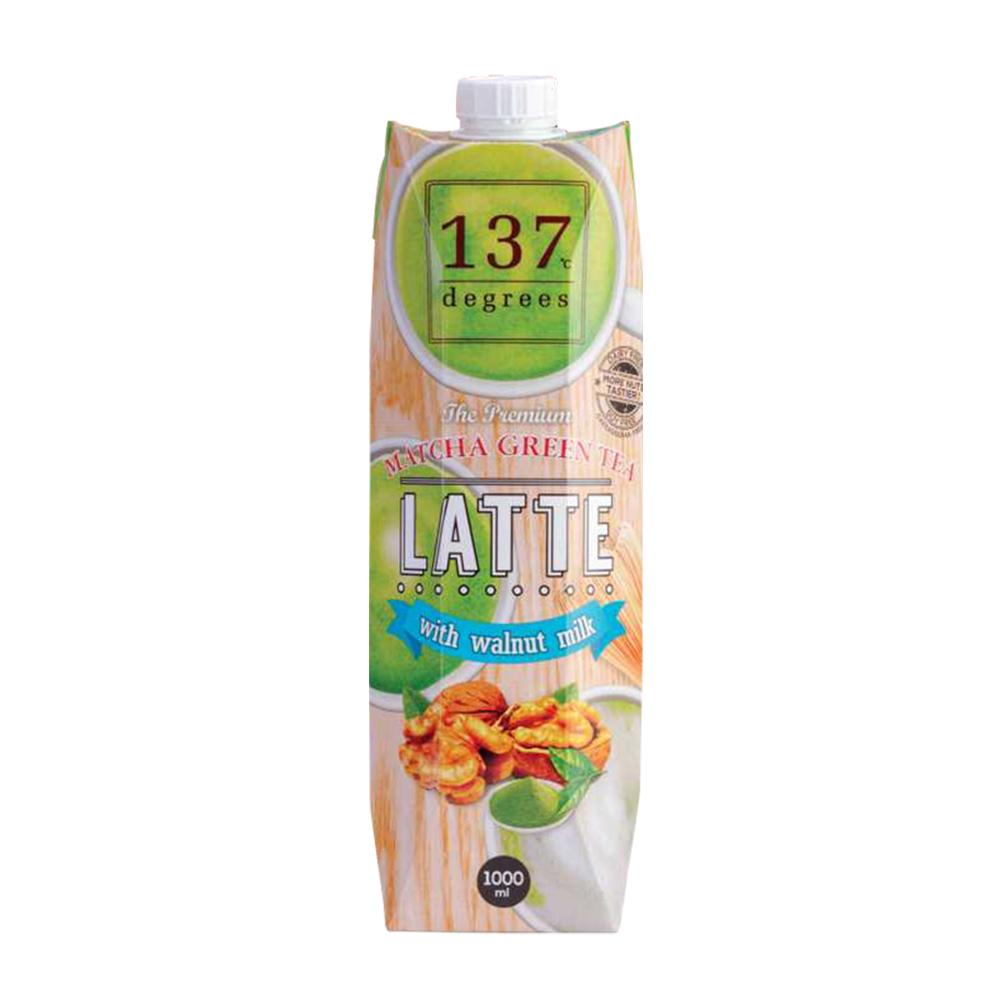 【137degrees】抹茶核桃飲x4瓶(1000ml/瓶)