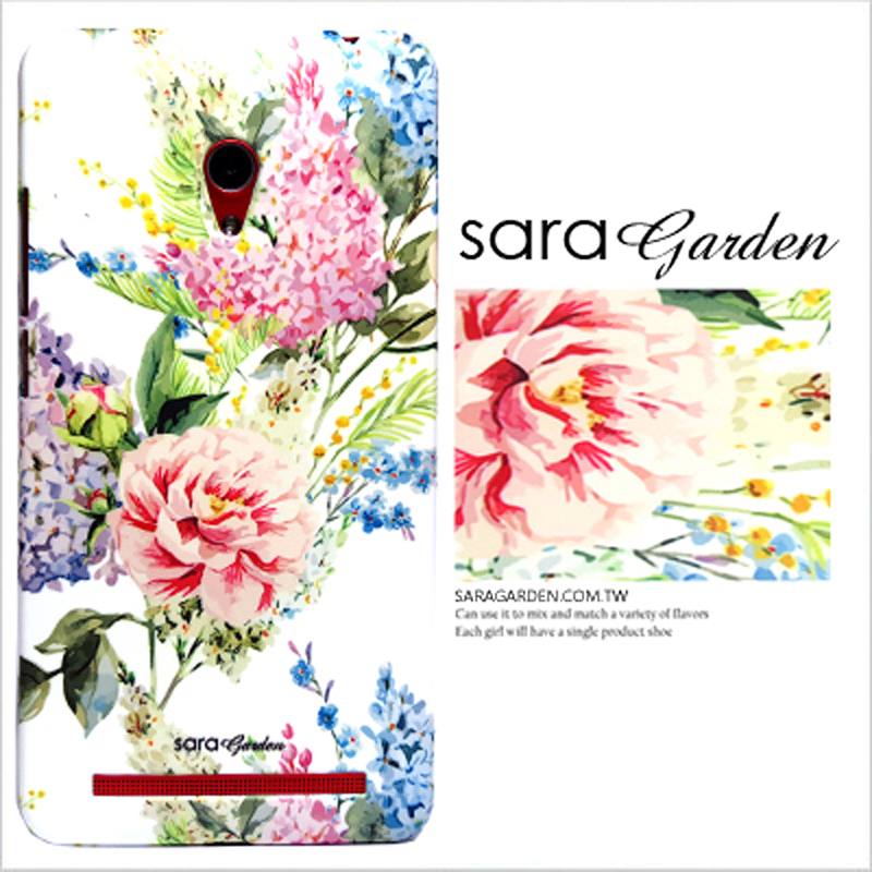 【Sara Garden】客製化 手機殼 Samsung 三星 Note10 簡約 牡丹花 碎花 保護殼 硬殼