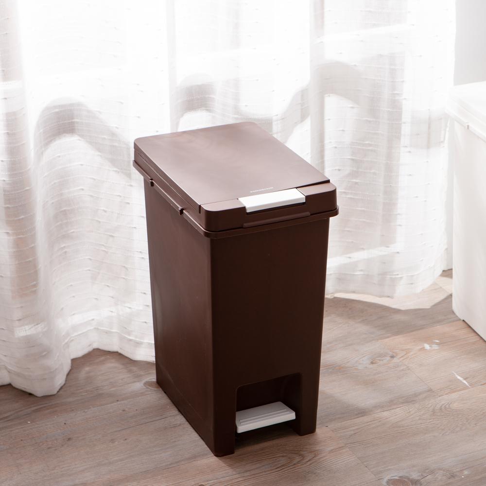 Clean多功能垃圾桶20L-質樸褐-生活工場