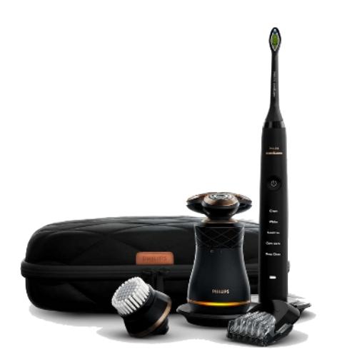 【Philips飛利浦】Union 刮鬍刀+電動牙刷 紳士淨化組 S8880