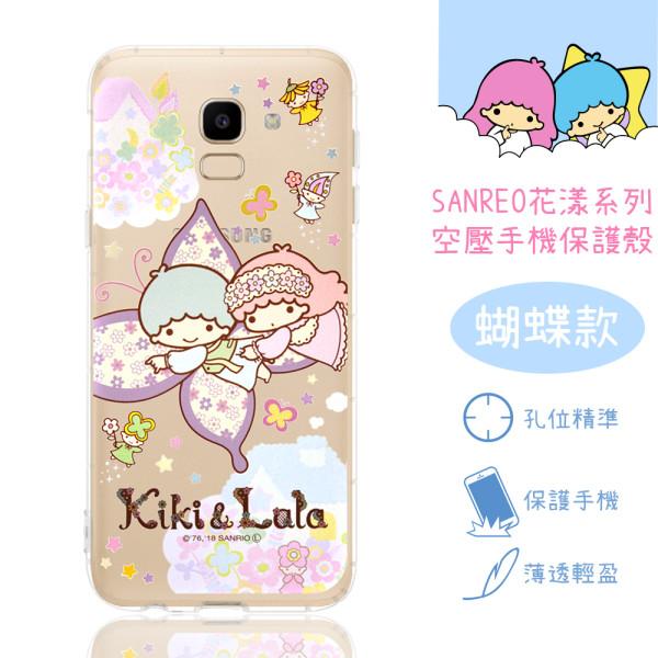 【雙子星】Samsung Galaxy J6 花漾系列 氣墊空壓 手機殼(蝴蝶)
