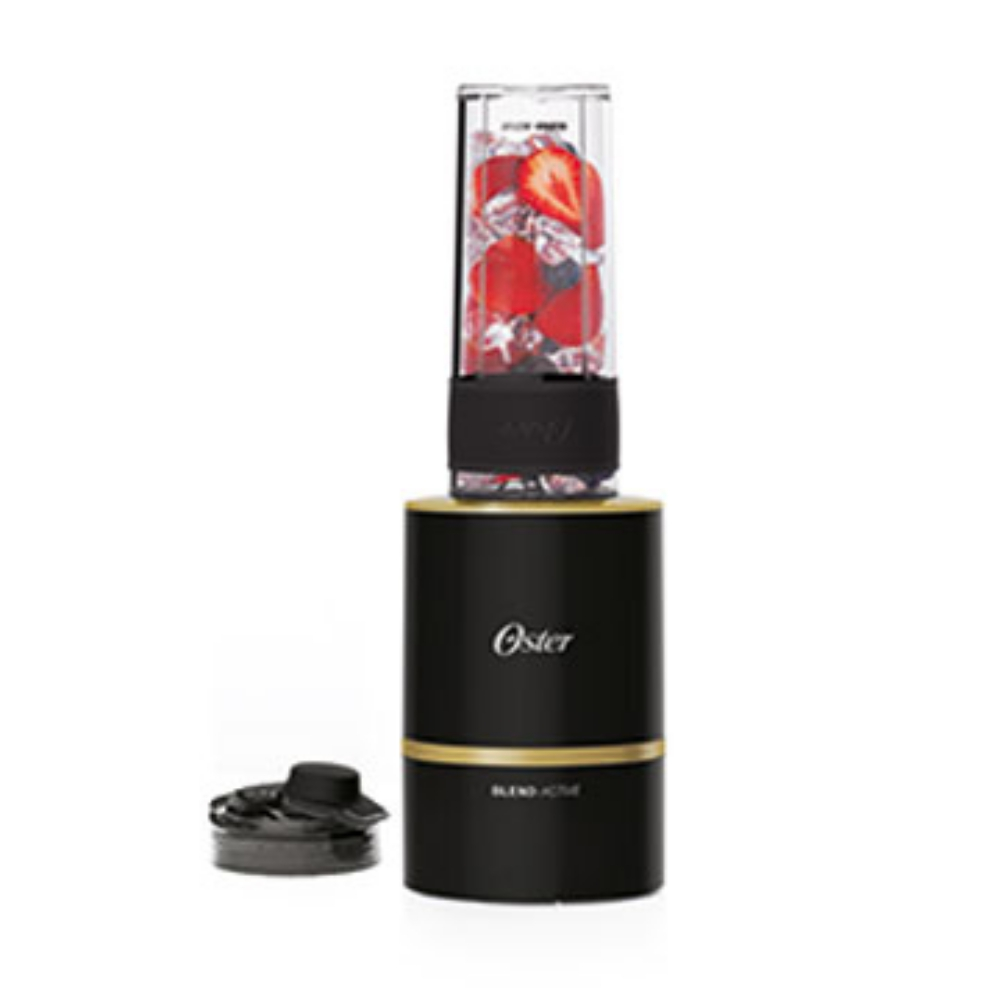 美國OSTER Blend Active隨我型果汁機一機二杯組(果汁機黑金,另一替杯顏色隨機出貨)