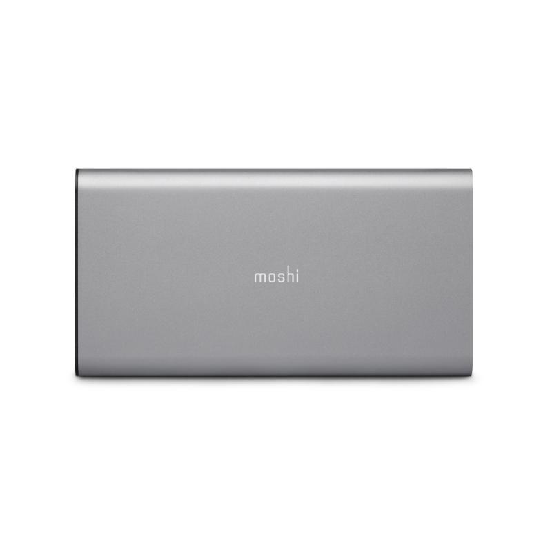 moshi IonSlim 10K PD超薄行動電源 灰 附TypeC跟C to C 2條傳輸線