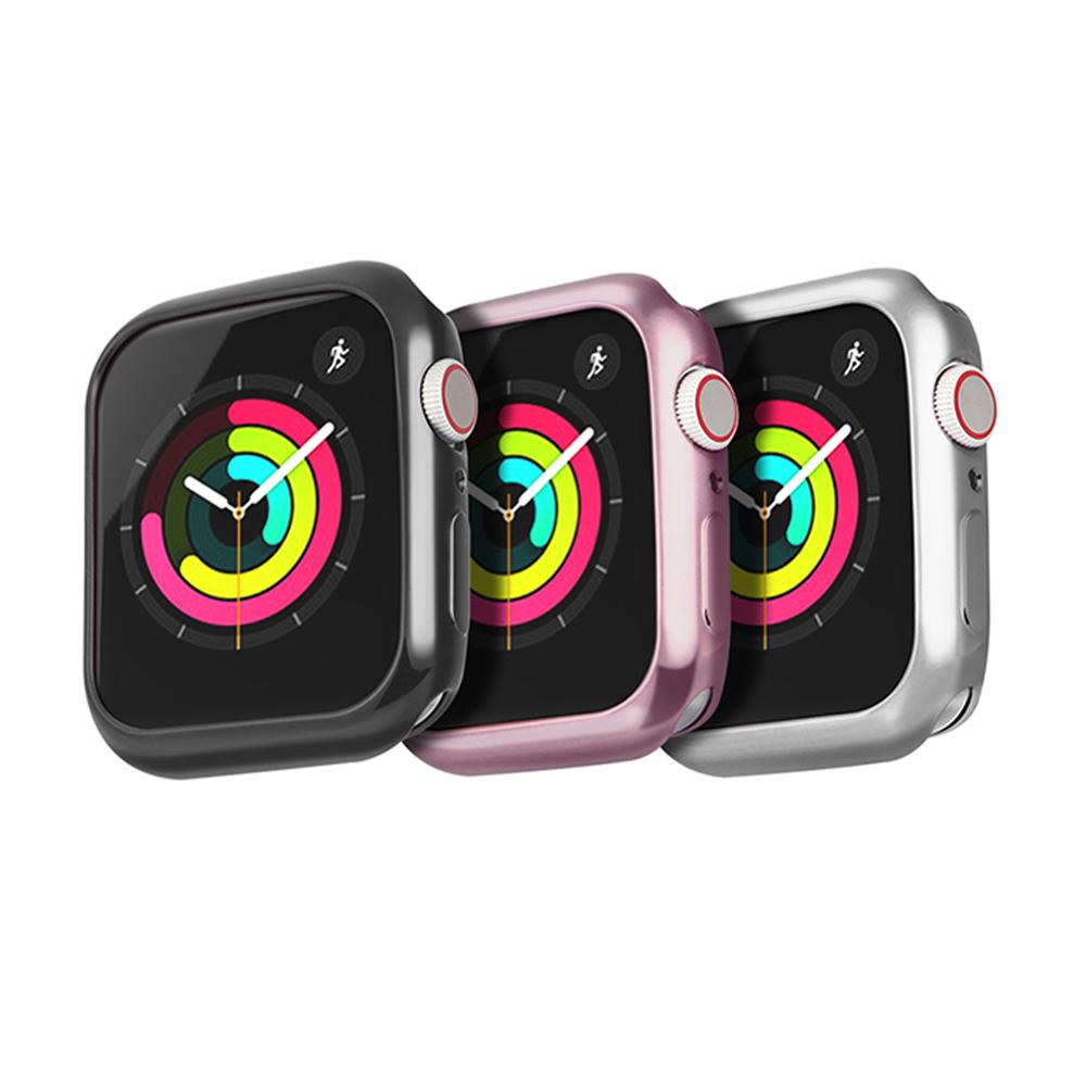 DUX DUCIS Apple Watch S4 (44mm) 電鍍 TPU 套組(贈透明)(黑色)