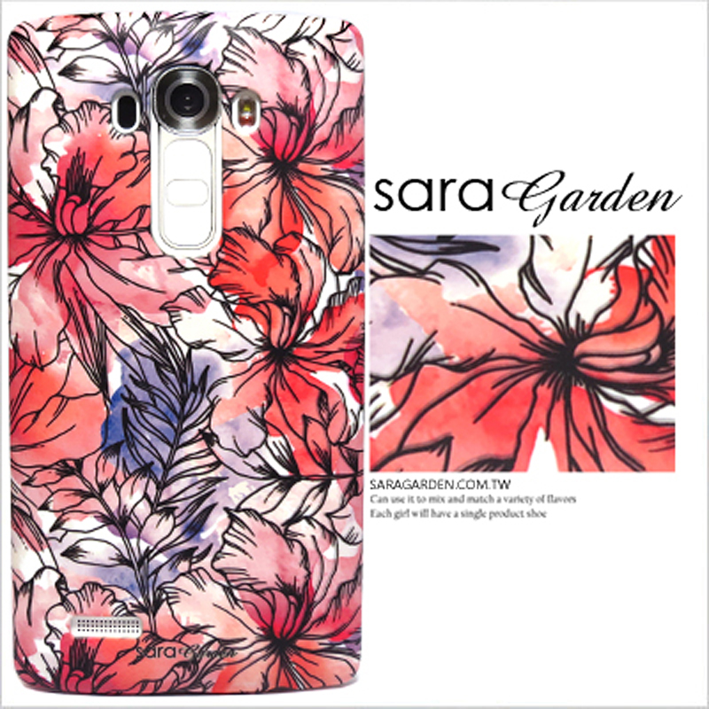 【Sara Garden】客製化 手機殼 蘋果 iphone7plus iphone8plus i7+ i8+ 水彩扶桑花 保護殼 硬殼