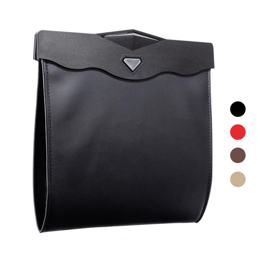 多功能 LED 燈椅背收納袋/垃圾袋(棕色)