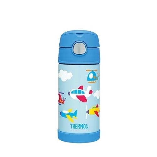 THERMOS膳魔師0.4L不鏽鋼真空保冷瓶保溫瓶F4018/F4018AP-BL(翱翔天際篇)
