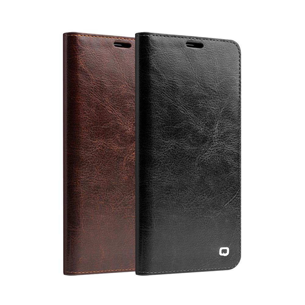 QIALINO SAMSUNG Galaxy S9 經典皮套(升級版)(棕色)