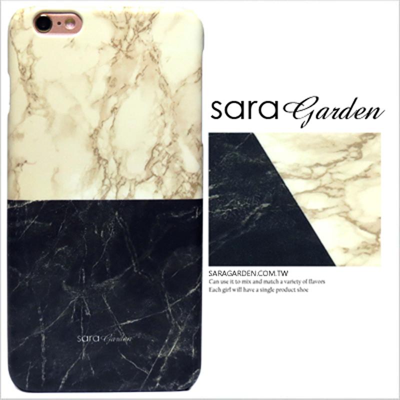 【Sara Garden】客製化 手機殼 蘋果 iphoneX iphone x 大理石 拼接 撞色 紋路 保護殼 硬殼