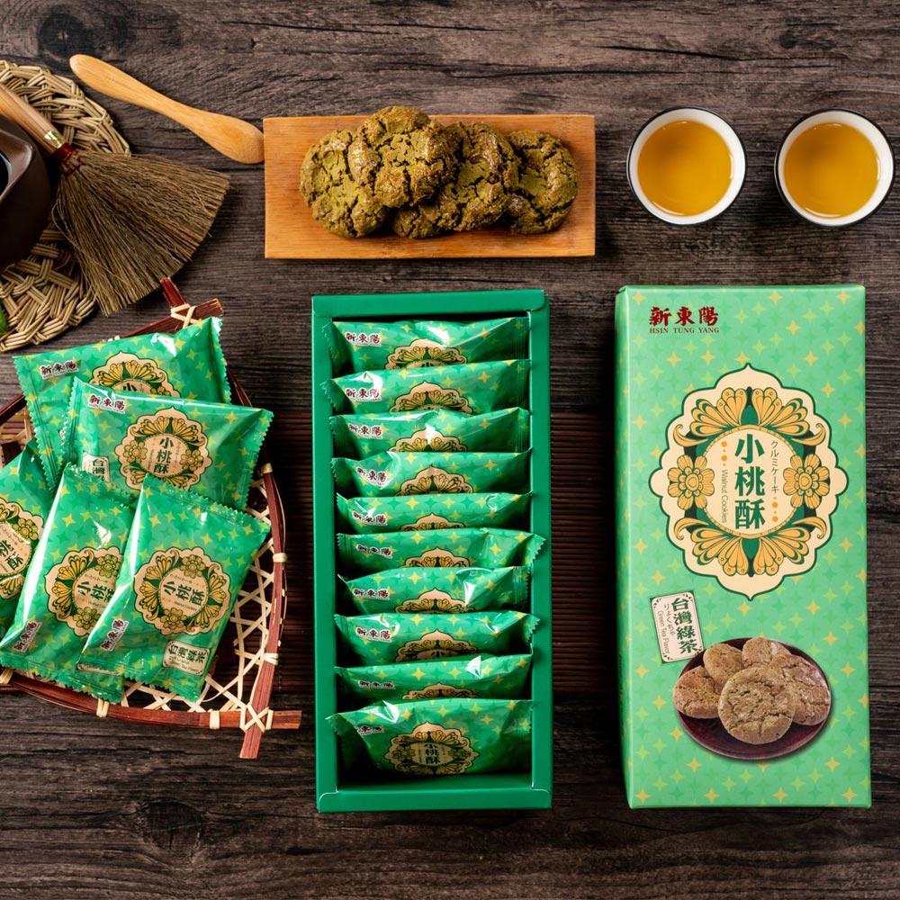 【新東陽】綠茶小桃酥禮盒 (14g*10入/盒,共4盒),加贈新小手提