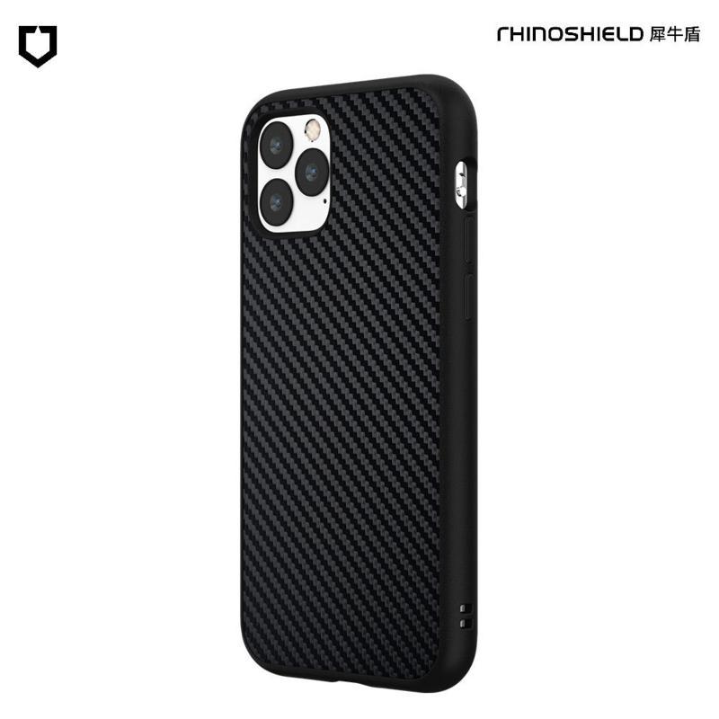 犀牛盾 SolidSuit 防摔背蓋手機殼 iPhone 11 Pro Max 6.5(2019) 黑碳纖