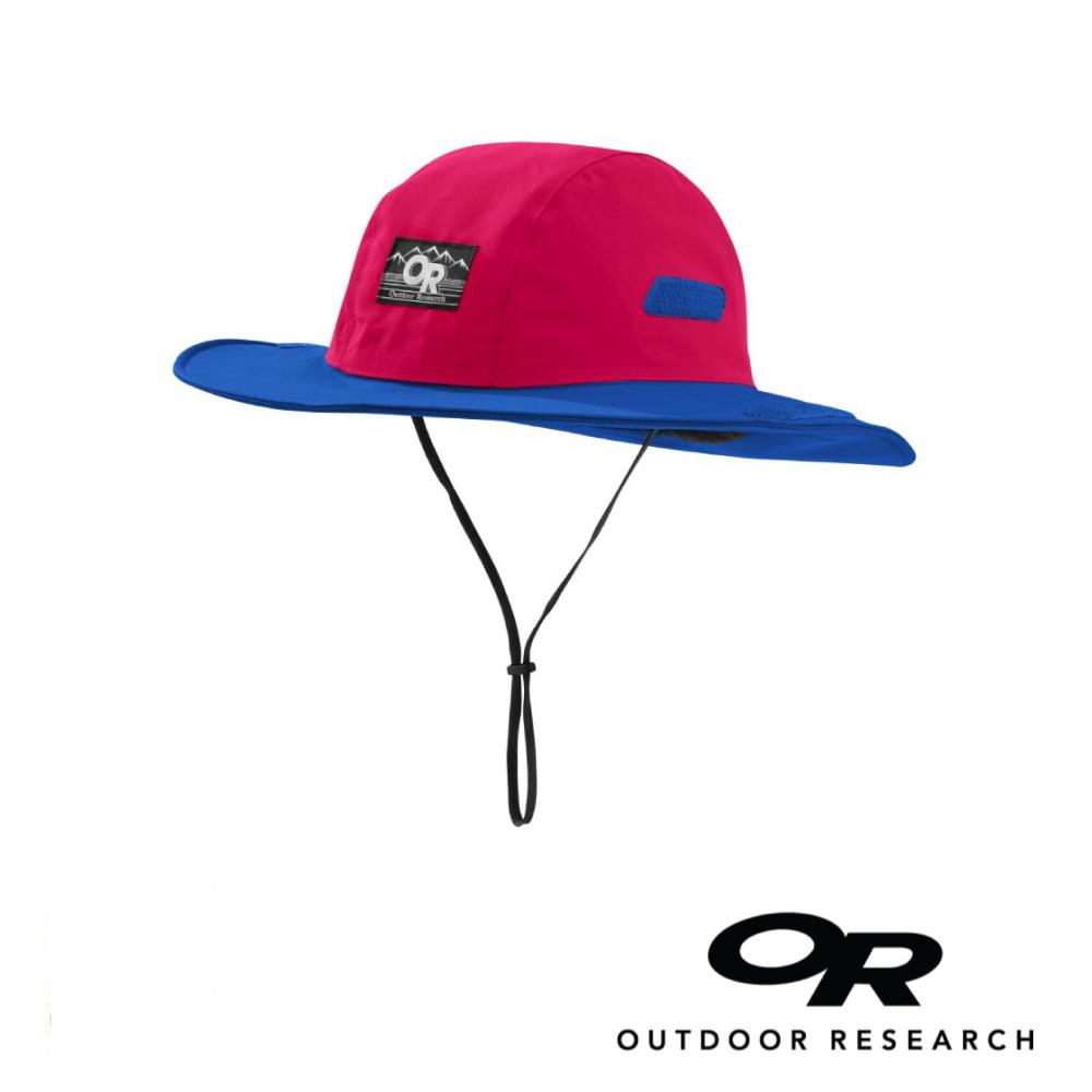 【美國Outdoor Research】紅藍XL-復古款防水透氣防曬可折疊遮陽帽
