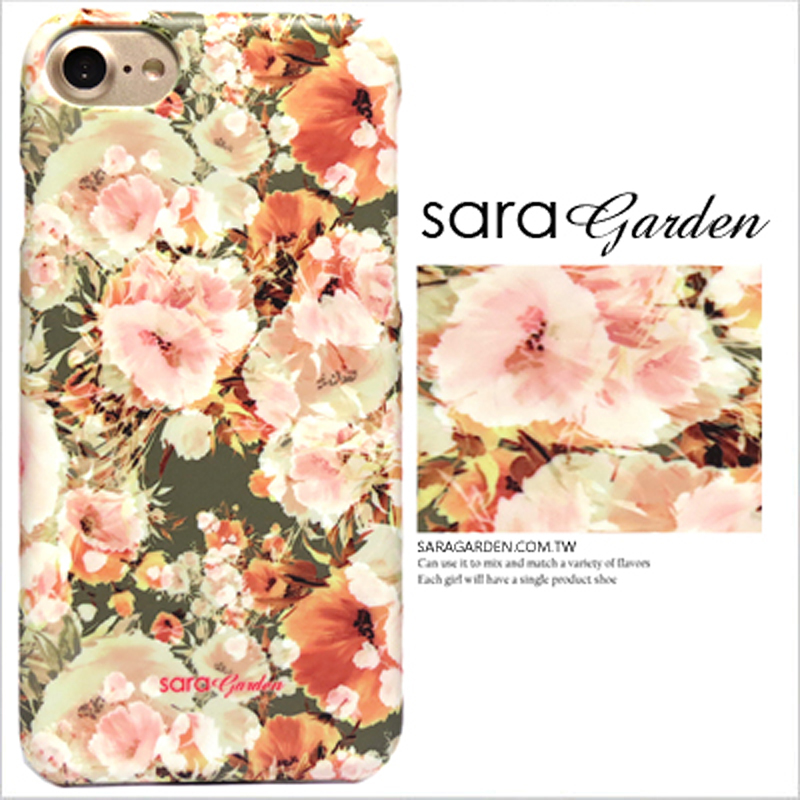 【Sara Garden】客製化 手機殼 蘋果 iphone5 iphone5s iphoneSE i5 i5s 亮彩 漸層 碎花 保護殼 硬殼