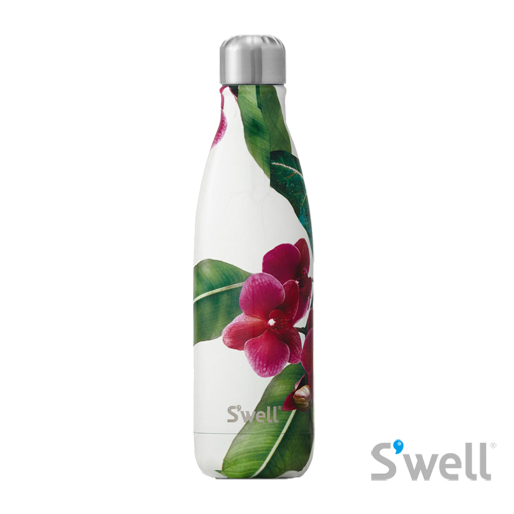 【S'well】紐約時尚不鏽鋼保冷保溫瓶-Resort系列 Cattleya 17oz(500ml)