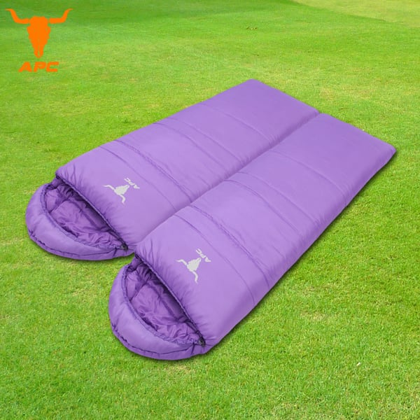 APC《馬卡龍》秋冬可拼接全開式睡袋-葡萄紫(2入組)
