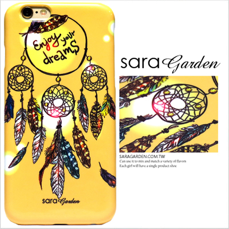 【Sara Garden】客製化 手機殼 蘋果 iPhone6 iphone6S i6 i6s 暈染 捕夢網 羽毛 曙光 硬殼 限定