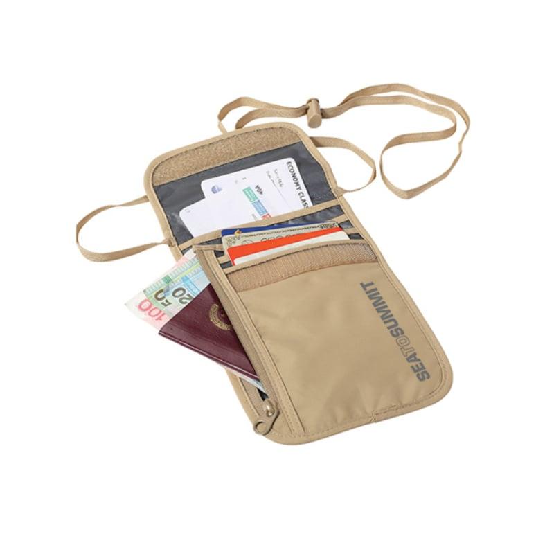 【Sea To Summit】旅行用頸掛式證件袋(5袋口) -褐/淺灰