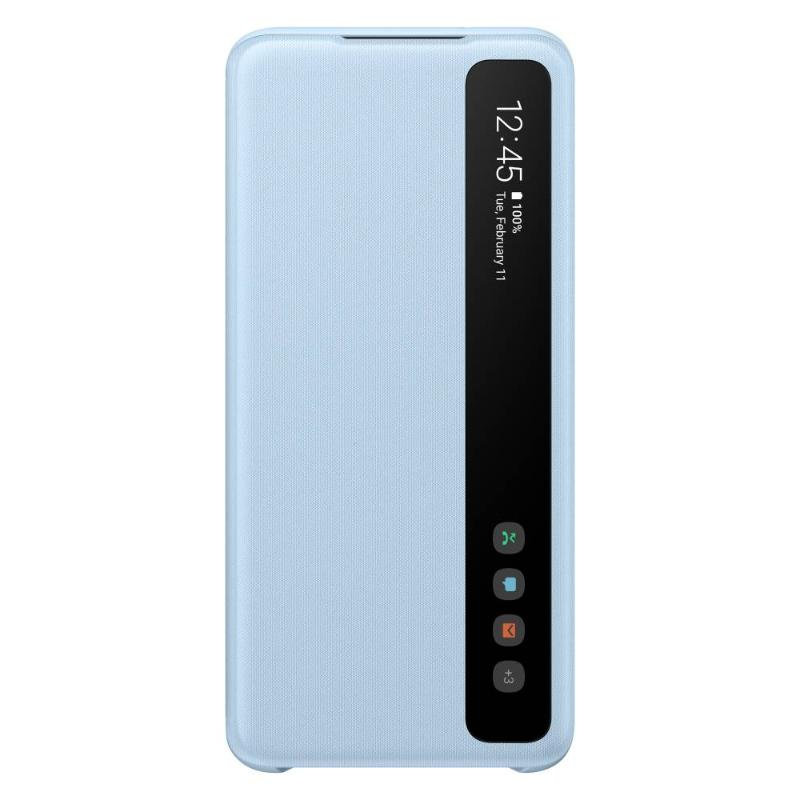SAMSUNG Galaxy S20 5G全透視感應皮套 天空藍