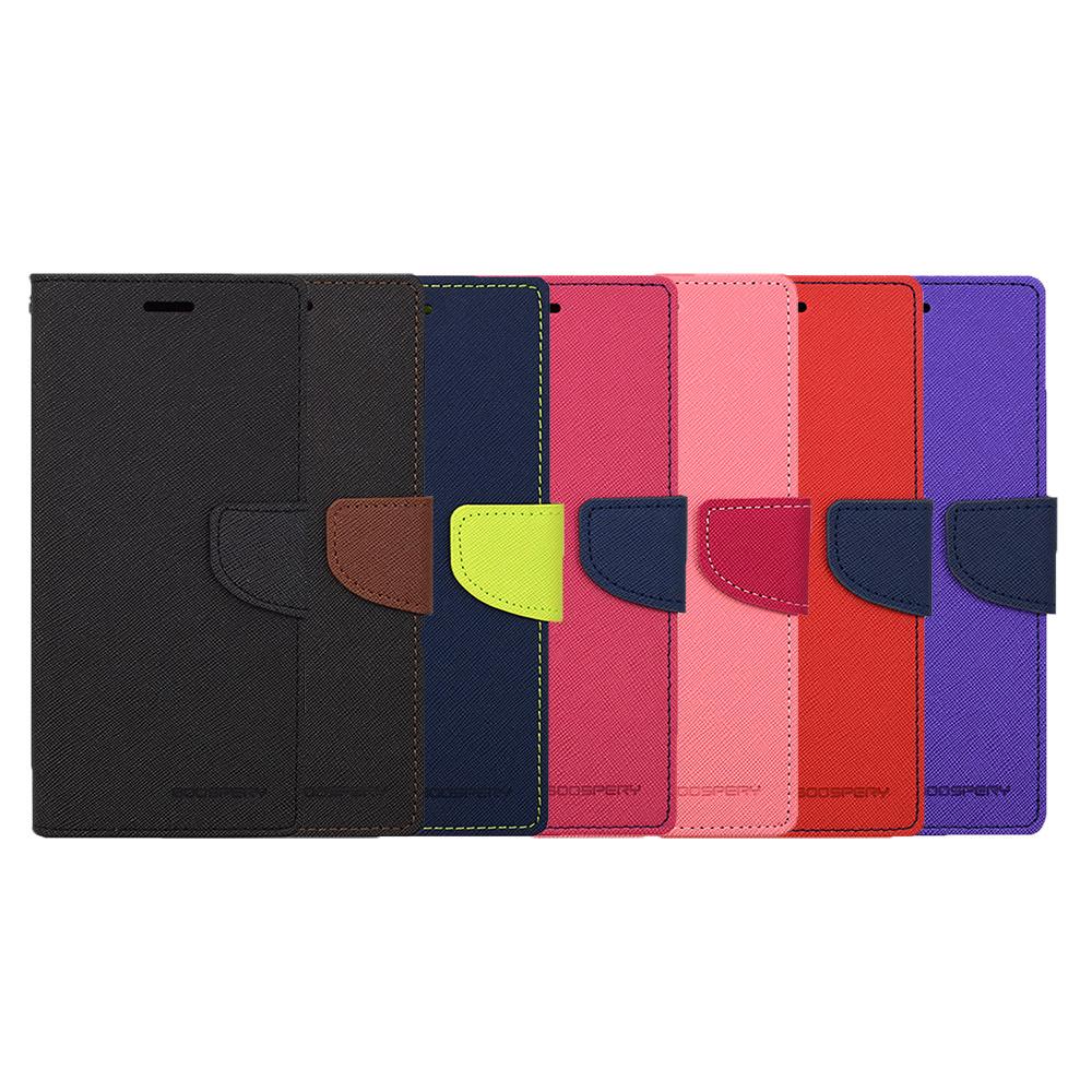 GOOSPERY HTC Desire 12+ FANCY 雙色皮套(紅藍)