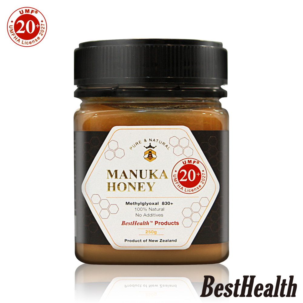 【Best Health】紐西蘭麥蘆卡蜂蜜活性UMF 20+(250g)