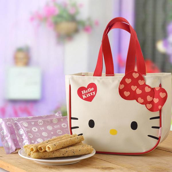 預購《Hello Kitty》芝麻蛋捲-首選版禮盒(蛋素)