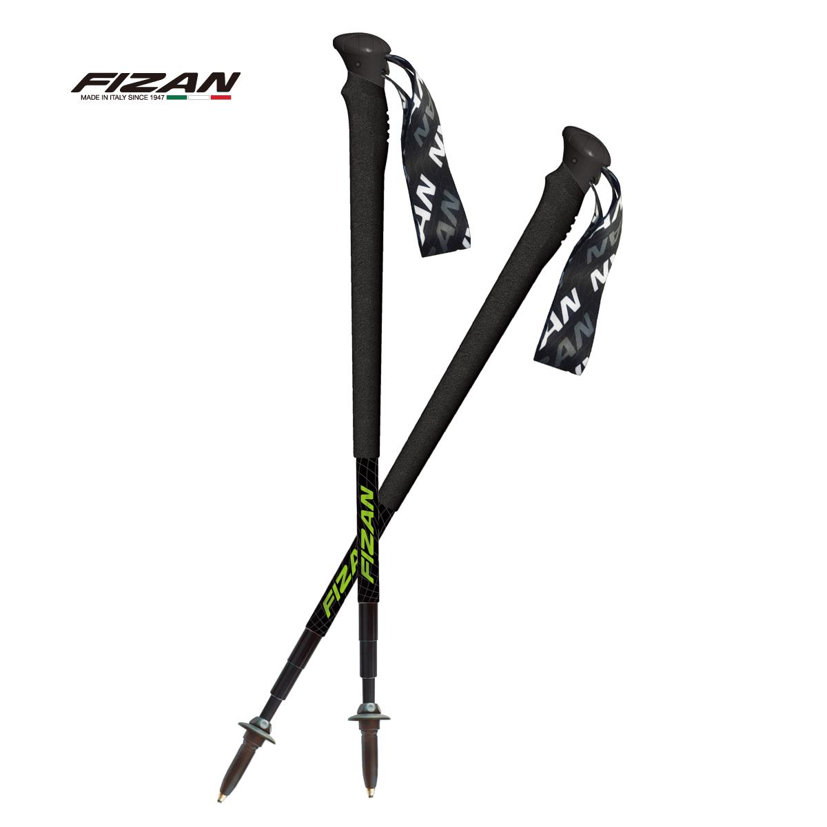 【FIZAN】超輕四節式多功能登山杖/組 黑