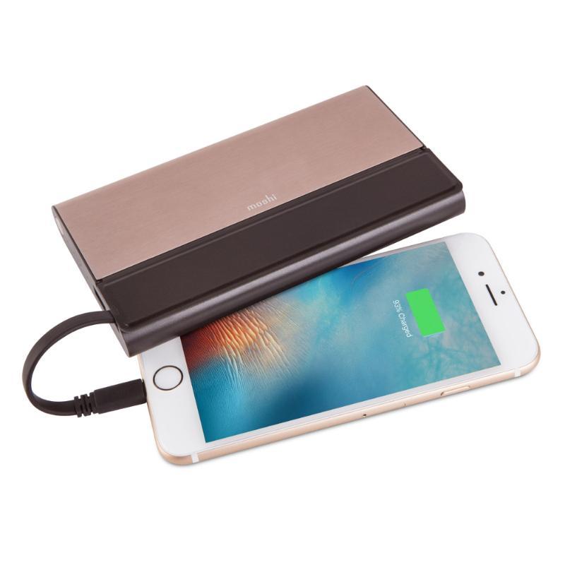 moshi IonBank 10300鋁合金行動電源 金(內置隱藏式Lightning和USB傳輸線)