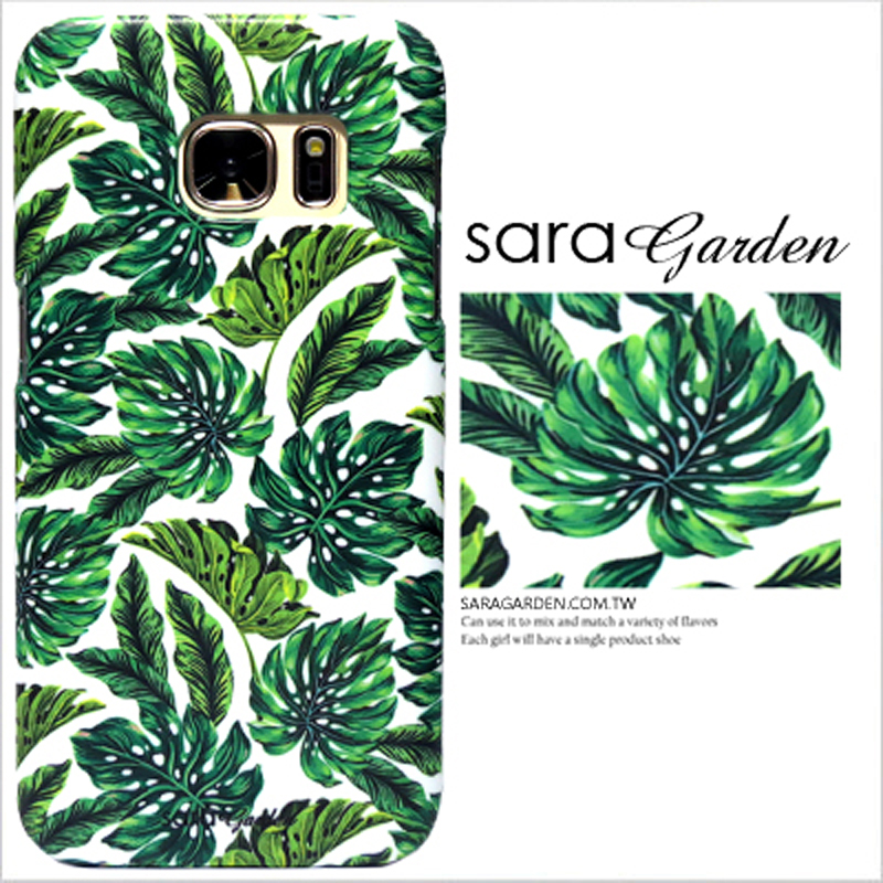 【Sara Garden】客製化 手機殼 三星 Note10+ Note10Plus 熱帶 樹葉 叢林 手工 保護殼 硬殼