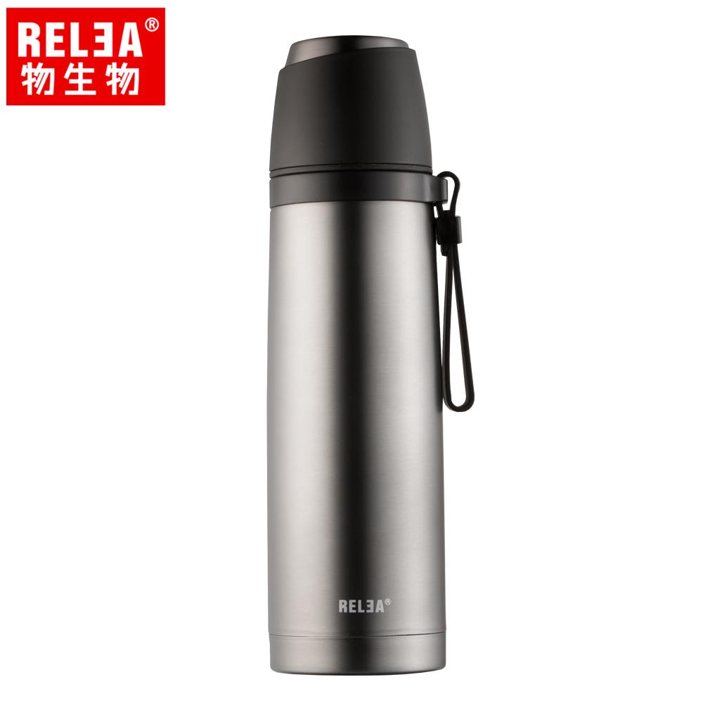 【香港RELEA物生物】500ml君悅一蓋兩用不鏽鋼保溫杯(深空灰)