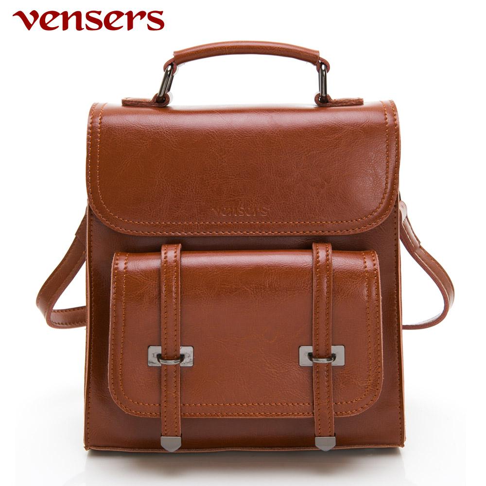【vensers】小牛皮潮流個性包~多功能包(NL1080101棕色)